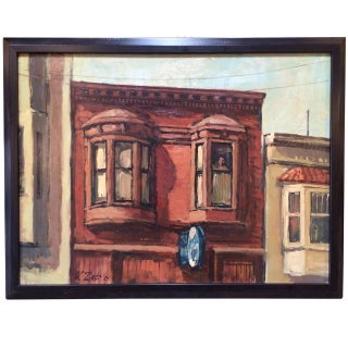 Oil Painting of a Brownstone by Wade Zint