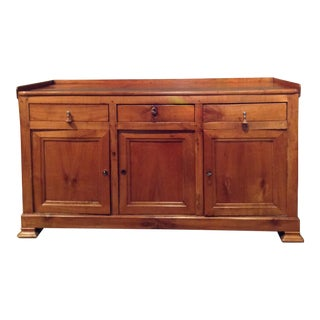 Country French Cherry Buffet Server Bakers Counter