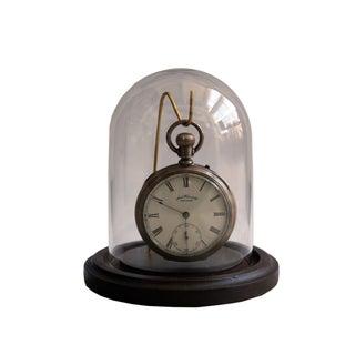 Waltham Pocket Watch in Glass Dome