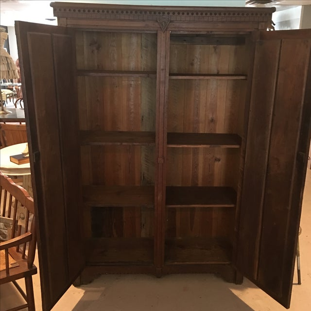 Antique 1800s Walnut Wardrobe Armoire - Image 6 of 7