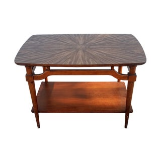 Mid-Century Lane Side Table W/ Laminated Pattern