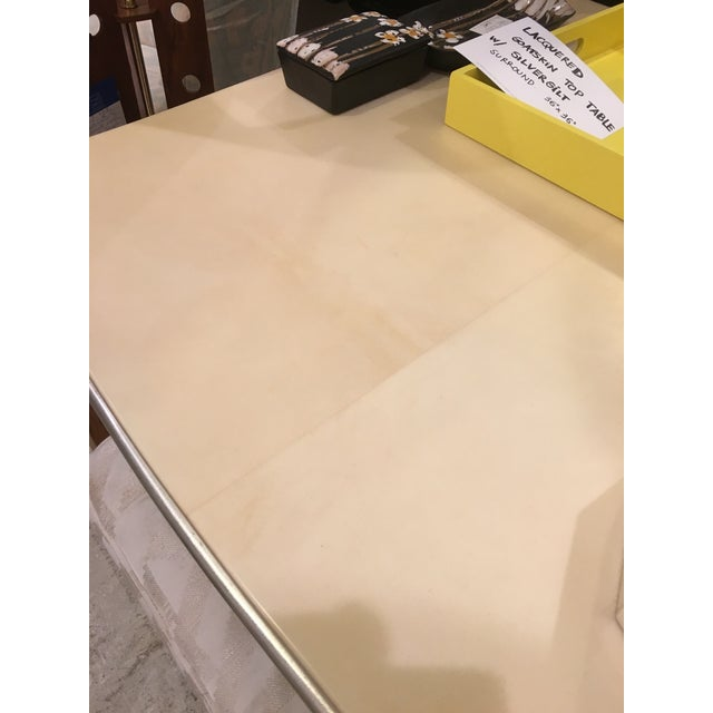 Lacquered Goatskin Game Table - Image 8 of 10