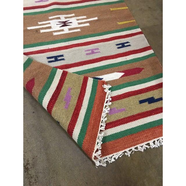 Image of Handmade Geometric Aztec Rug - 2′11″ × 5′