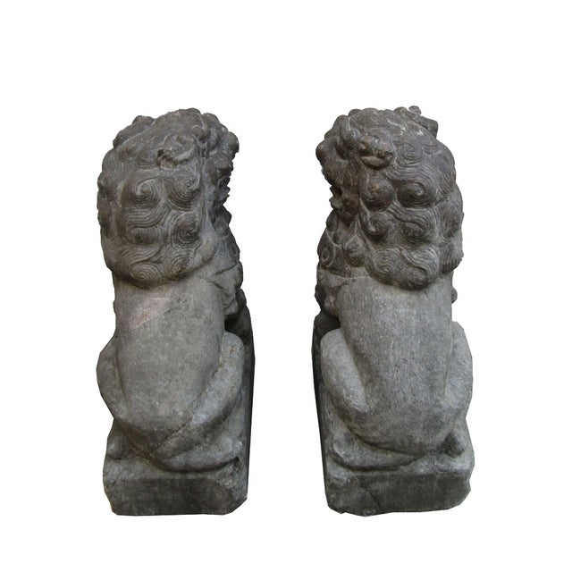Image of Vintage Stone Foo Dogs- A Pair