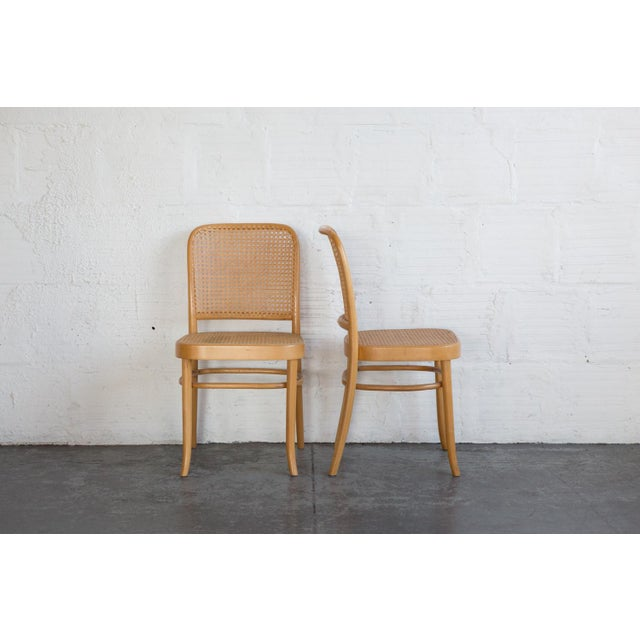 Prauge Cane Bentwood Woven Side Chairs - Set of 4 - Image 6 of 11