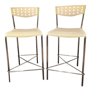 Umberto Bertoni for Beta Casa Counter Stools - A Pair