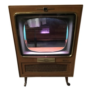 Vintage Zenith Mid-Century Blonde TV Bar