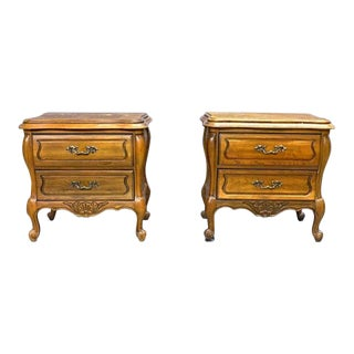 Hickory French Provincial Chests Nightstands - a Pair