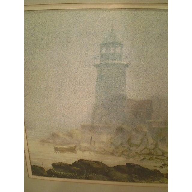 Annisquam Lighthouse Cape Ann Watercolor - Image 3 of 6
