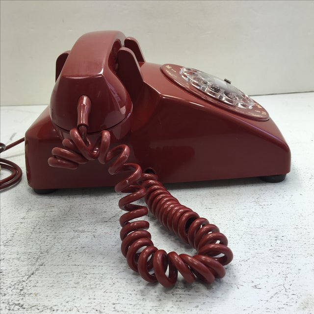 Western Electric Red Rotary Dial Telephone - Image 5 of 11