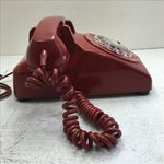 Image of Western Electric Red Rotary Dial Telephone