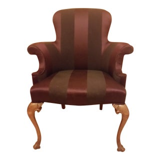 Vintage Reupholstered Southwood Queen Anne Chair