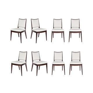 Set of 8 Frame Back Dining Chairs