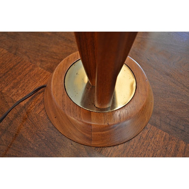 Danish-Style Sculpted Teak Lamps- A Pair - Image 8 of 9
