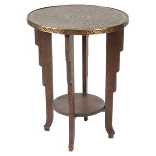 Brass Top Occasional Table