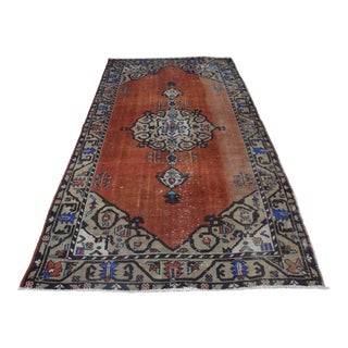 Turkish Faded Rug - 4′8″ × 9′2″
