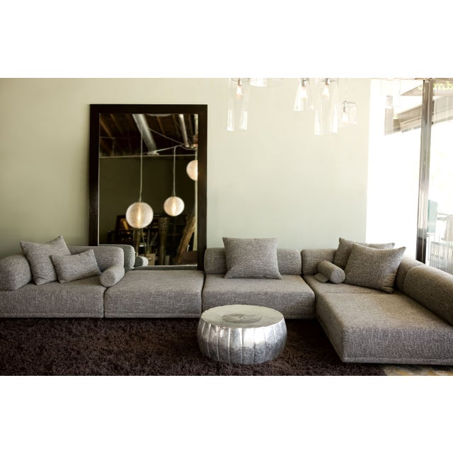 Contemporary Modular Gray Tweed Sectional