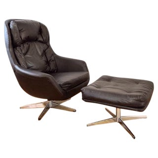Mid-Century Selig Egg Lounge Chair & Ottoman