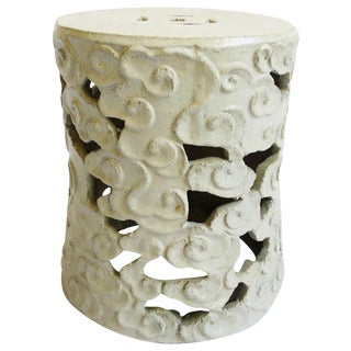 White Ceramic Cloud Stool