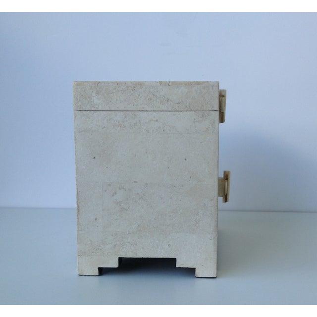 Maitland-Smith Vintage 1970s Tessellated Stone Box - Image 7 of 11