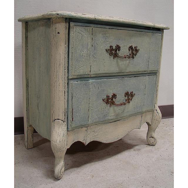 Old World French Provincial Two-Drawer Nightstand - Image 2 of 7