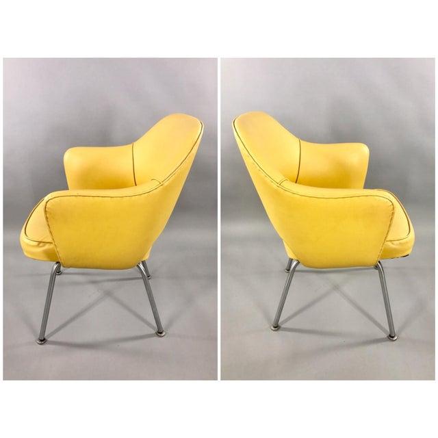 Original 1950's Vintage Eero Saarinen for Knoll Model 71 Executive Armchairs - a Pair - Image 3 of 11