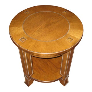 Vintage Rustic Style Round End Table