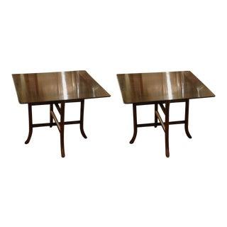 T.H. Robsjohn-Gibbings for Widdicomb Drink Tables - a Pair