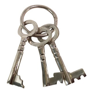 Decorative Skeleton Keys on a Ring - Set of 3