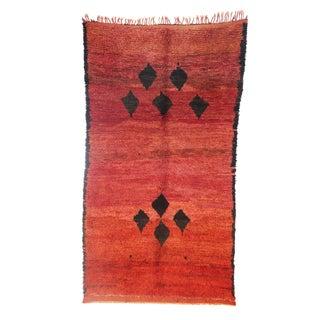 "Vintage Beni M'Guild Moroccan Berber Rug - 4'8"" X 8'4"""