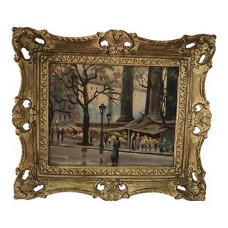 Vintage Street Scene Framed Print