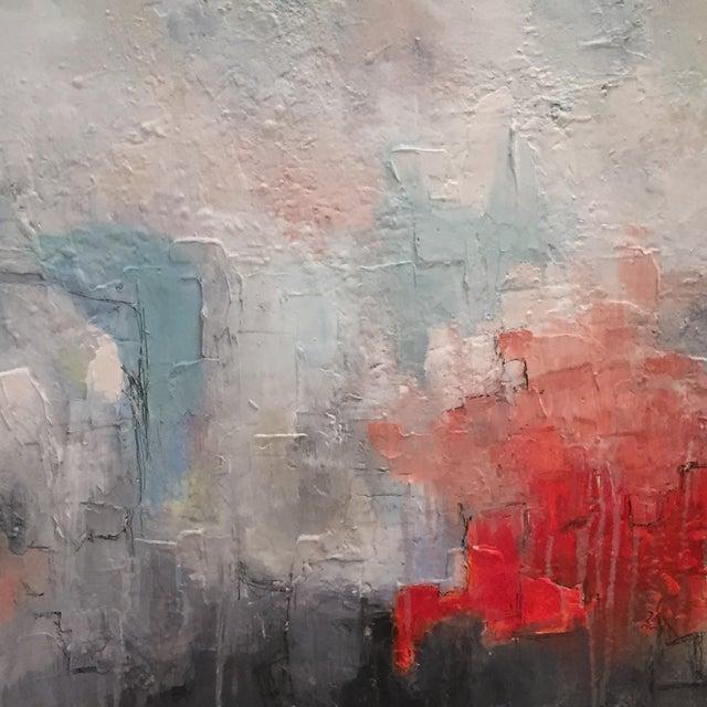 Jordan Johnson Aqua & Coral Abstract I Painting - Image 5 of 5