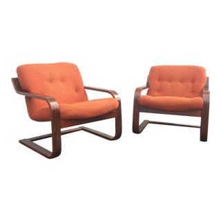 Westnofa Mid-Century Lounge Chairs - A Pair