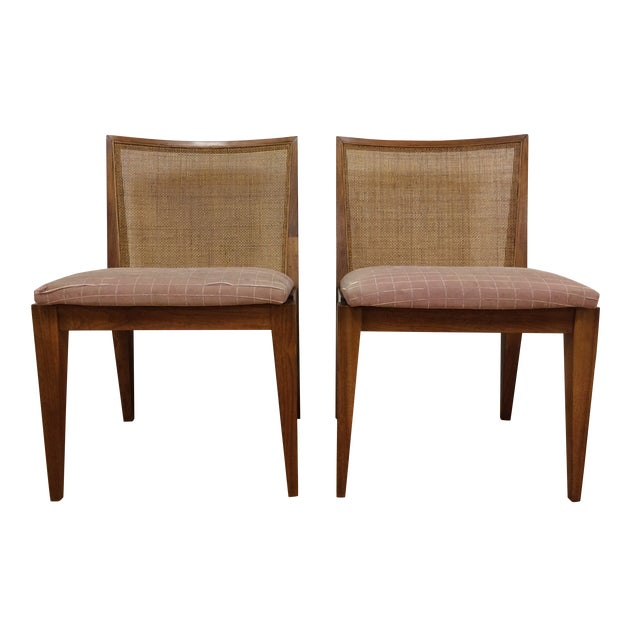 Edward Wormley Cane Back Chairs - A Pair - Image 1 of 11