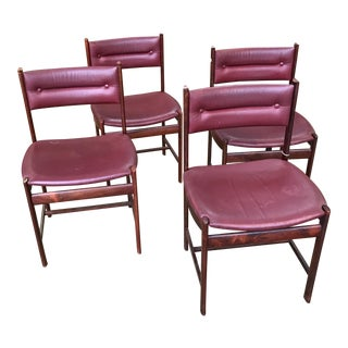 Solid Rosewood Danish Dining Chairs - Set of 4