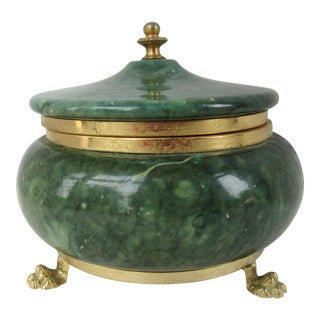 Vintage Round Stone Jewelry Box