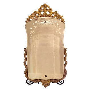 Antique Gold Frame Etched Wall Mirror
