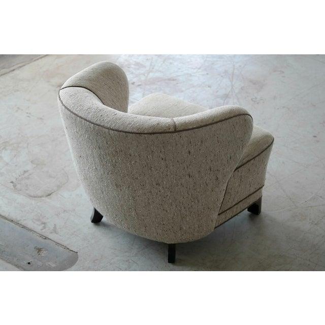 Viggo Boesen Attributed Danish Modern Lounge Chair 1940s - Image 5 of 11