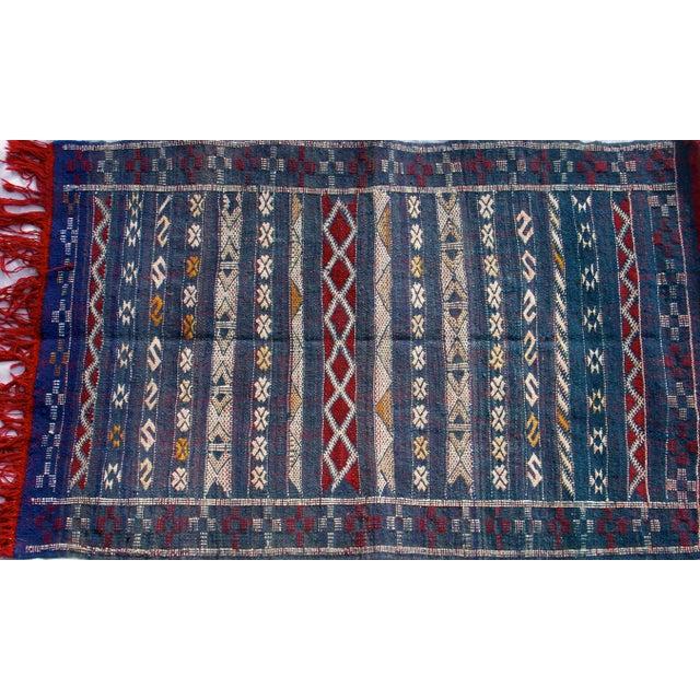 "Moroccan Berber Tribal Kilim Rug - 2' 7"" x 4' 2"" - Image 3 of 6"