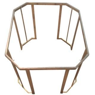 Octagonal Brass Side Table Base