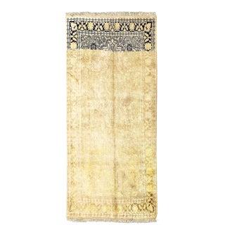 Vintage Persian Isfahan Silk Rug - 3'0 x 5'0