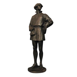 "1907 ""Edelmann"" Bronze Signed Statue"