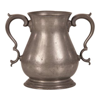 Large Pewter Urn with Two Shaped Handles from England c.1850