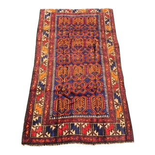 "Vintage Persian Baluchi Rug - 2'11""x5'2"""