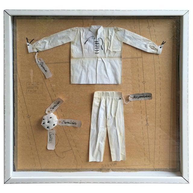 Image of French Salesman's Fashion Samples Framed