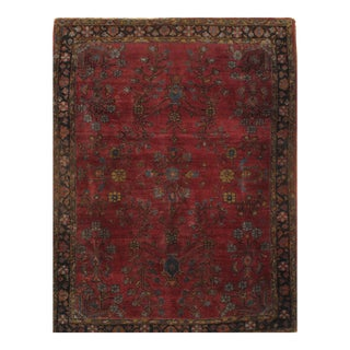 """Pasargad N Y Antique Persian Sarouk Farahan Hand Knotted Rug - 3'10"""" X 5'"""