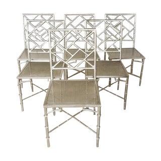 Hollywood Regency Metal Chairs - Set of 6