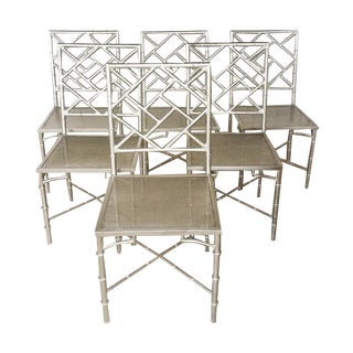 Hollywood Regency Metal Chairs - Set of 6
