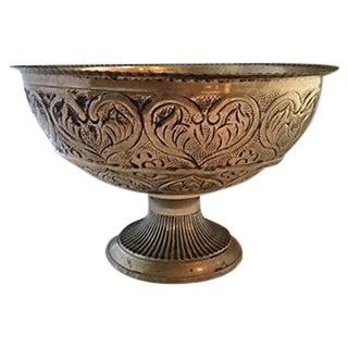 Repoussed Silver Centerpiece Bowl
