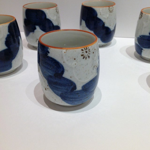 Japanese Painted Tea Cups - Set of 6 - Image 3 of 7